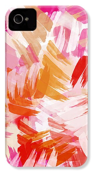 Abstract Paint Pattern IPhone 4 Case by Christina Rollo
