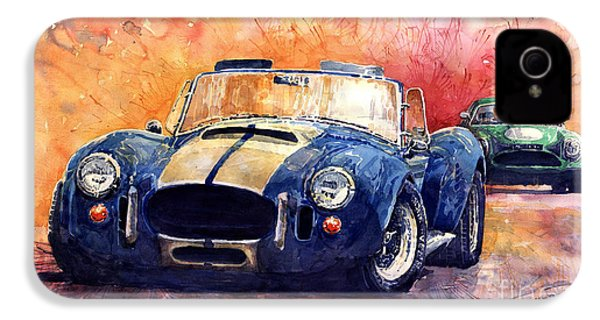 Ac Cobra Shelby 427 IPhone 4 Case by Yuriy  Shevchuk