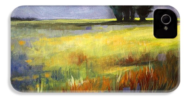 Across The Field IPhone 4 Case by Nancy Merkle