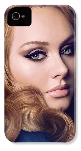 Adele Artwork  IPhone 4 / 4s Case by Sheraz A