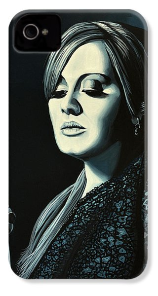 Adele Skyfall Painting IPhone 4 / 4s Case by Paul Meijering