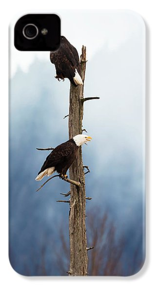 Adult Bald Eagles  Haliaeetus IPhone 4 / 4s Case by Doug Lindstrand