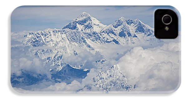Aerial View Of Mount Everest IPhone 4 Case by Hitendra SINKAR