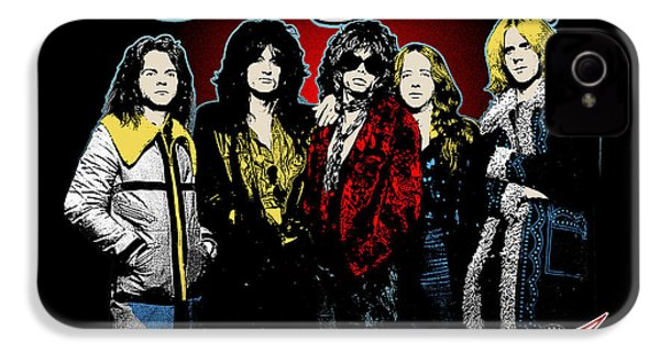 Aerosmith - 1970s Bad Boys IPhone 4 Case by Epic Rights