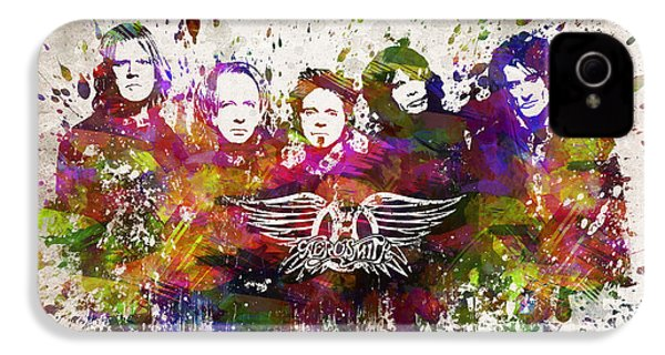 Aerosmith In Color IPhone 4 Case by Aged Pixel