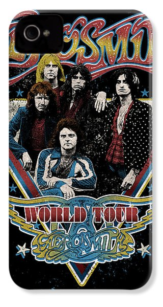 Aerosmith - World Tour 1977 IPhone 4 Case by Epic Rights