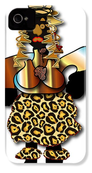 IPhone 4 Case featuring the digital art African Dancer 2 by Marvin Blaine