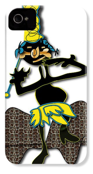 IPhone 4 Case featuring the digital art Tribal Medicine Doctor  by Marvin Blaine