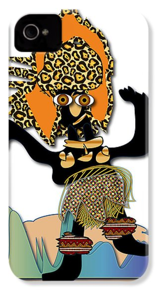 IPhone 4 Case featuring the digital art African Dancer 6 by Marvin Blaine