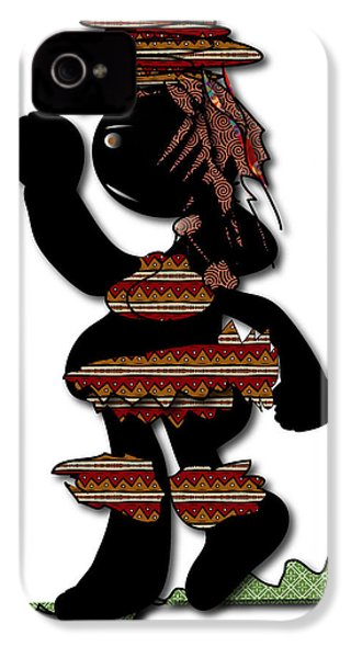 IPhone 4 Case featuring the digital art African Dancer 7 by Marvin Blaine
