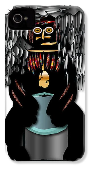 IPhone 4 Case featuring the digital art African Drummer 2 by Marvin Blaine