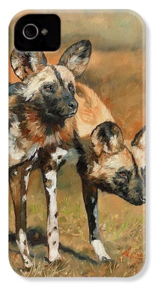African Wild Dogs IPhone 4 Case