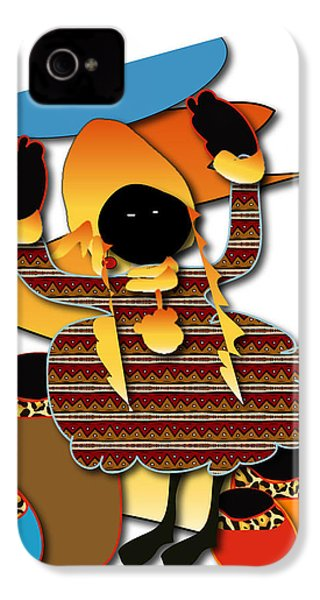 IPhone 4 Case featuring the digital art African Worker by Marvin Blaine