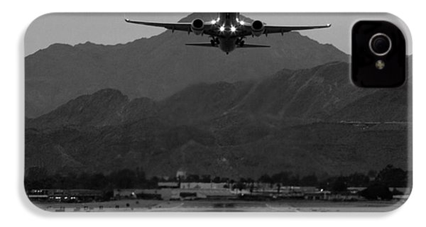 Alaska Airlines Palm Springs Takeoff IPhone 4 Case by John Daly