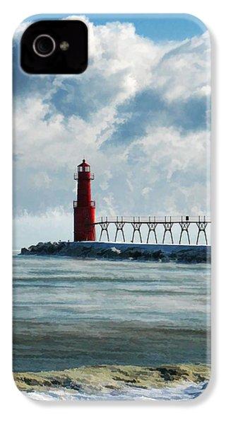 Algoma Pierhead Lighthouse IPhone 4 Case by Christopher Arndt