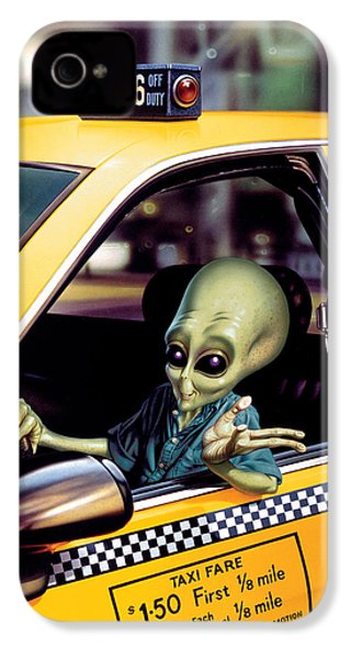 Alien Cab IPhone 4 Case by Steve Read