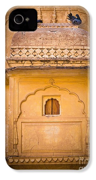 Amber Fort Birdhouse IPhone 4 Case by Inge Johnsson