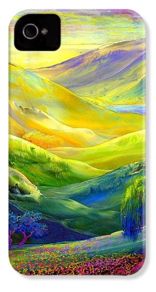 Wildflower Meadows, Amber Skies IPhone 4 Case