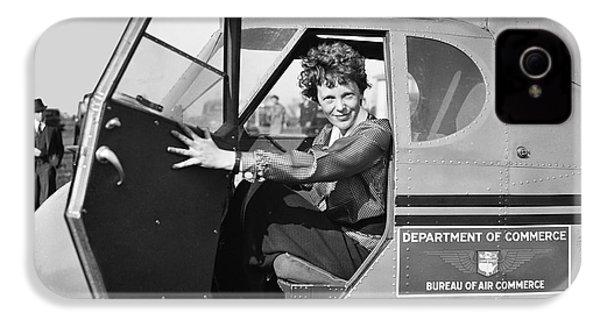 Amelia Earhart - 1936 IPhone 4 / 4s Case by Daniel Hagerman