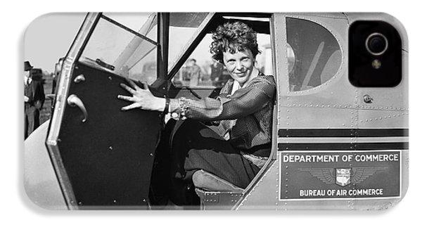 Amelia Earhart - 1936 IPhone 4 Case by Daniel Hagerman
