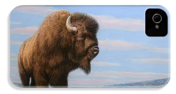American Bison IPhone 4 Case by James W Johnson
