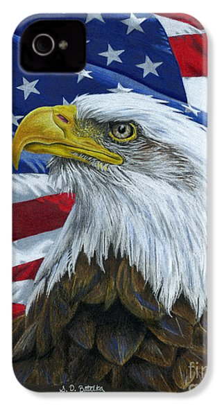 American Eagle IPhone 4 / 4s Case by Sarah Batalka