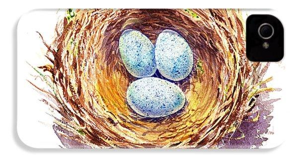 American Robin Nest IPhone 4 / 4s Case by Irina Sztukowski