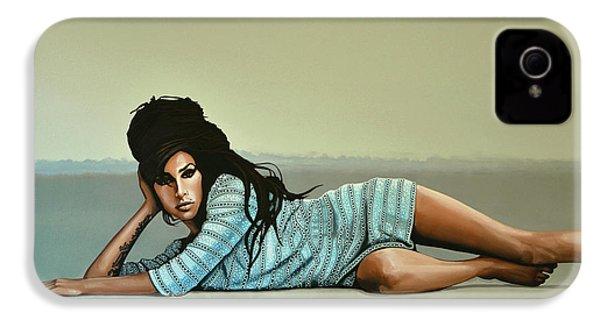 Amy Winehouse 2 IPhone 4 Case by Paul Meijering