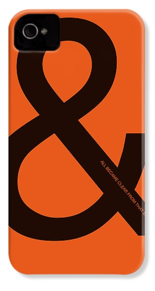 And All Became Clear Poster IPhone 4 / 4s Case by Naxart Studio
