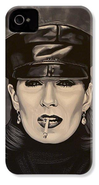 Anjelica Huston IPhone 4 Case by Paul Meijering