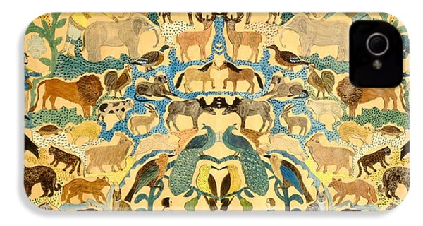 Antique Cutout Of Animals  IPhone 4 / 4s Case by American School