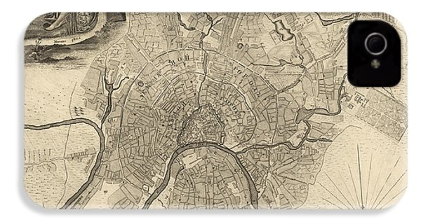 Antique Map Of Moscow Russia By Ivan Fedorovich Michurin - 1745 IPhone 4 Case by Blue Monocle