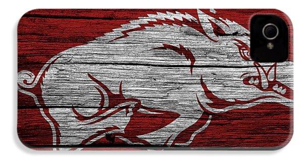 Arkansas Razorbacks On Wood IPhone 4 Case by Dan Sproul