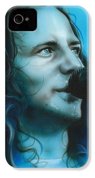 Eddie Vedder - ' Arms Raised In A V ' IPhone 4 Case by Christian Chapman Art