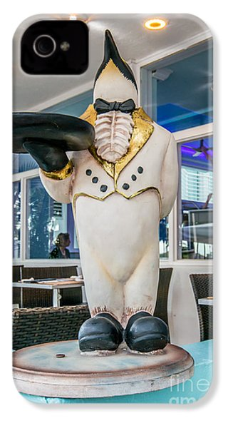 Art Deco Penguin Waiter South Beach Miami IPhone 4 Case by Ian Monk