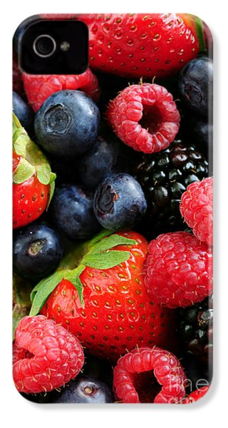 Assorted Fresh Berries IPhone 4 Case