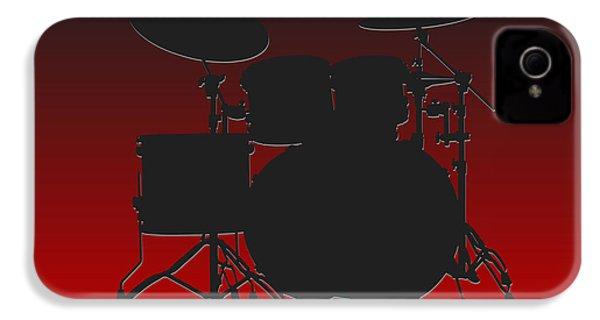 Atlanta Falcons Drum Set IPhone 4 Case by Joe Hamilton