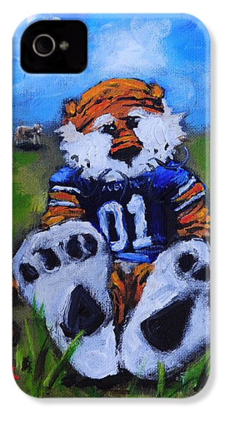 Aubie With The Cows IPhone 4 Case by Carole Foret