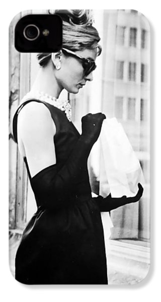 Audrey At Tiffanys IPhone 4 Case by Georgia Fowler