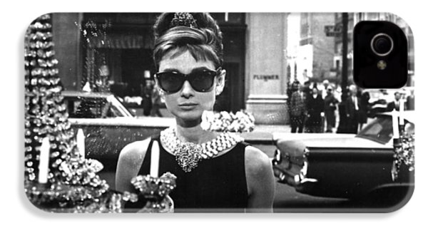 Audrey Hepburn Breakfast At Tiffany's IPhone 4 Case by Georgia Fowler