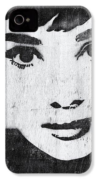 Audrey Hepburn IPhone 4 Case by Tim Gainey