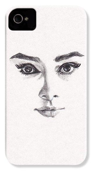 Audrey IPhone 4 Case by Lee Ann Shepard