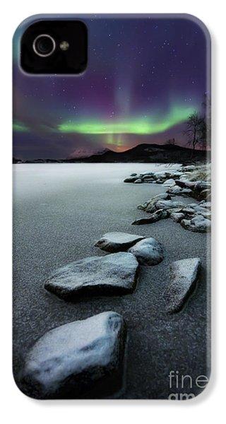 Aurora Borealis Over Sandvannet Lake IPhone 4 Case