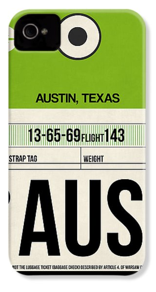Austin Airport Poster 1 IPhone 4 / 4s Case by Naxart Studio
