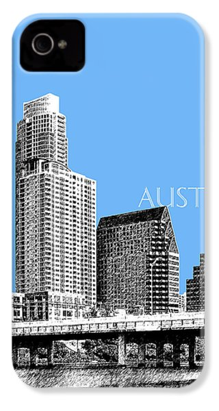 Austin Skyline - Sky Blue IPhone 4 / 4s Case by DB Artist