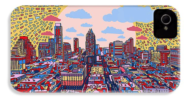 Austin Texas Abstract Panorama 2 IPhone 4 Case