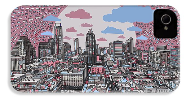 Austin Texas Abstract Panorama 3 IPhone 4 Case