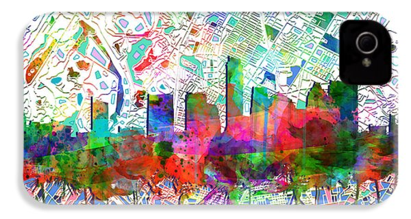 Austin Texas Abstract Panorama 7 IPhone 4 Case