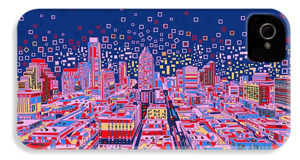 Austin Texas Abstract Panorama IPhone 4 Case