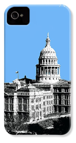 Austin Texas Capital - Sky Blue IPhone 4 / 4s Case by DB Artist